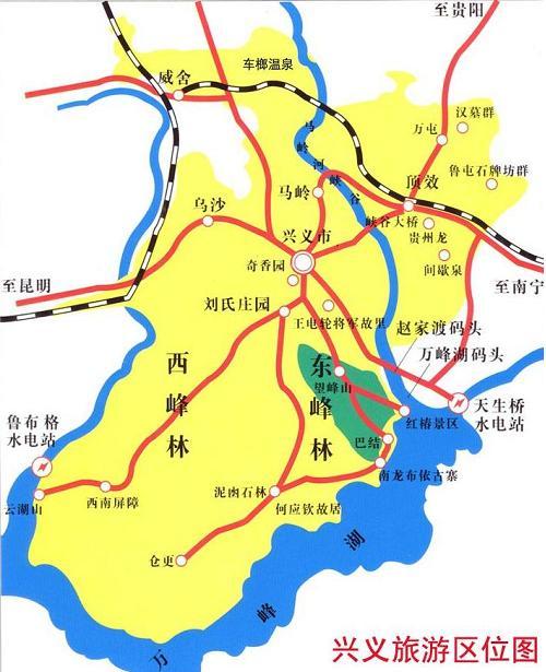 万峰湖位置示意图